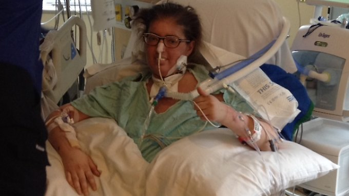Melissa Benoit nach der erfolgreichen Operation