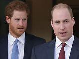 William (r.) und Harry wollen ihre Mutter mit einer Statue ehren.