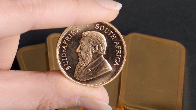 Beliebt bei Anlegern, die auf Nummer sicher gehen: die Krügerrand-Goldmünze.