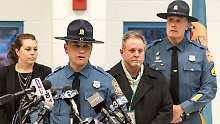 REFILE - CORRECT DATESgt. Richard Bratz, PIO Delaware State Police, issues a statement about the prison guards who were taken hostage by prison inmates, at James T. Vaughn Correctional Center in Smyrna, Delaware, U.S., February 1, 2017. REUTERS/Doug Curran