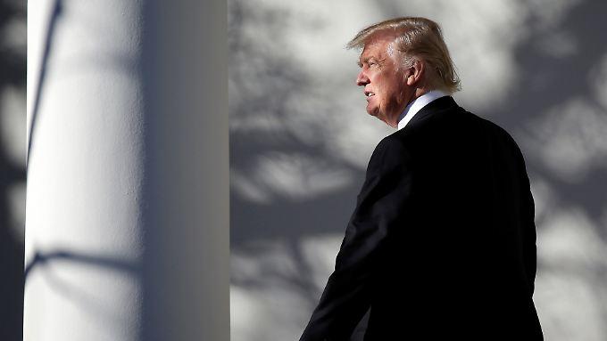 Präsident sein ist manchmal ein ziemlich einsamer Job: Donald Trump.