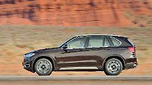 Gut 4,90 Meter lang ist der BMW X5 vom Typ F15 und damit im Straßenverkehr über alle Zweifel erhaben.