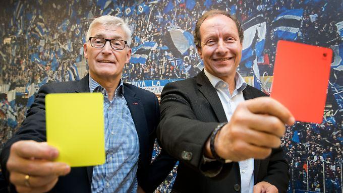 Berufsoptimisten: Lutz Michael Fröhlich und Hellmut Krug.