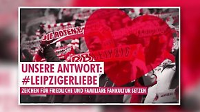 In der 9. Minute gegen den HSV: Leipzig-Fans wollen Zeichen gegen Gewalt setzen