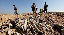 2015 wurden Massengräber entdeckt, in denen ermordete Jesiden verscharrt worden waren.