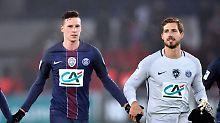 Julian Draxler und Kevin Trapp spielen gemeinsam in Paris - am Dienstagabend gegen den FC Barcelona.