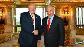 Bereits im September 2016 besuchte Netanjahu den damaligen Präsidentschaftskandidaten Donald Trump in New York.