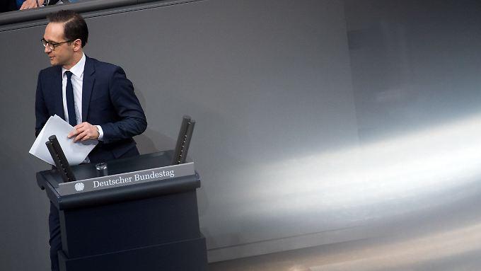 Durcheinander im Bundestag: Maas Fauxpas sorgt für Irritation unter den Abgeordneten.
