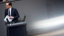 Durcheinander im Bundestag: Maas Faux Pas sorgt für Irritation unter den Abgeordneten.