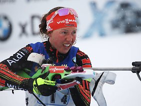 Nach ihren Gold-Triumphen verlassen Laura Dahlmeier bei der WM regelmäßig ihre Kräfte.