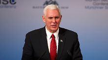 Treueschwur in München: US-Vize Pence sagt Nato Unterstützung zu