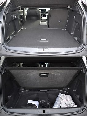 Ohne Reserverad bekommt der Kofferraum zwei Etagen. Wobei sich im unteren Bereich des Peugeot 3008 GT auch zwei kleine Koffer verstauen lassen.