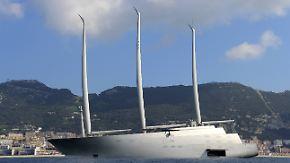 """Offene Rechnung für """"Sailing Yacht A"""": Teuerste Segeljacht der Welt in Gibraltar festgesetzt"""