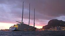 """Größte Segeljacht der Welt: """"Sailing Yacht A"""" beschlagnahmt"""