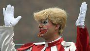 Maskerade in Gelb: Trumps Fönfrisur ist bei Karnevalisten der Hit