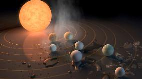 Sensation in der Astronomie: Sieben erdgroße Planeten entdeckt