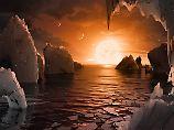 So könnte es auf einem der Trappist-1-Planeten aussehen, meint die Nasa.