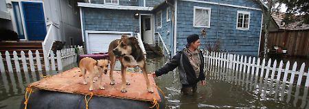 Das Hochwasser traf das sonnenverwöhnte Kalifornien völlig unvorbereitet.