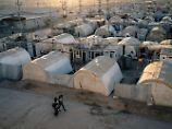 In diesem Flüchtlingslager in Dohuk leben vor allem Jesiden, eine Bevölkerungsgruppe, die besonders unter dem IS zu leiden hatte.