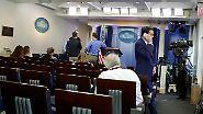 Neue Eskalationsstufe: Weißes Haus verwehrt US-Medien Zugang zu Fragerunde