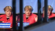 Merkel sprach auf der Landesvertreterversammlung der CDU Mecklenburg-Vorpommern, die sie in die Bundestagswahl führt.