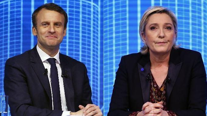 Favoriten bei der französischen Präsidentschaftswahl: Emmanuel Macron und Marine Le Pen.
