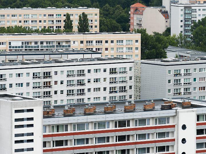 Wohnblöcke in Berlin.