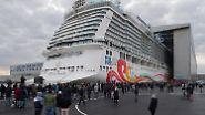 """Geburtsstunde eines Mega-Schiffs: Die """"Norwegian Joy"""" verlässt das Dock"""