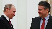 """""""Längeres, intensives Gespräch"""": Putin empfängt Gabriel im Kreml"""