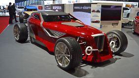 Einen Hot Rod im Retro Stil präsentiert Sbarro in Genf. Der hat es aber in sich.