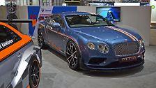 Neben Porsche und Audi präsentiert MTM auch einen Bentley Continental GT V8. Mittels Turbolader haben die Tuner 772 PS und 950 Newtonmeter für den Briten generiert.