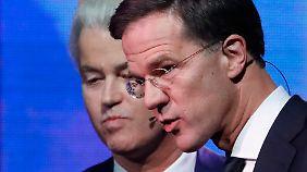 Viele Wähler noch unentschlossen: Rutte und Wilders liefern sich hitzige Redeschlacht