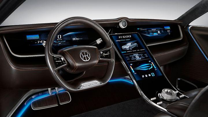 Im Innenraum setzt Pininfarina auf berührungsempfindliche Oberflächen.