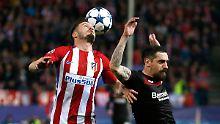 CL-Aus bei Atlético Madrid: Leverkusen spielt gut - aber nur remis