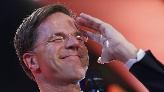 Wahl in den Niederlanden: Mark Rutte gewinnt Wahl klar