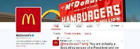 Tweets stammen von Hackern: McDonald's-Account beleidigt Trump