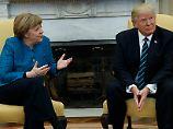 Bundeskanzlerin Merkel und US-Präsident Trump loten im Oval Office ihre Gemeinsamkeiten aus.