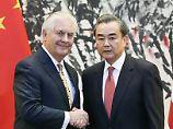 US-Minister Tillerson in Peking: China will Nordkorea-Konflikt friedlich lösen