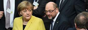 CDU belustigt über SPD-Euphorie: Linke fordert Groko-Absage von Schulz