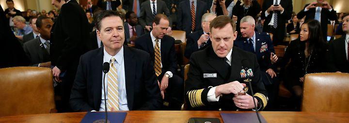 Comey bei der Anhörung im Kongress. Neben ihm nahm NSA-Direktor Mike Rogers Platz.
