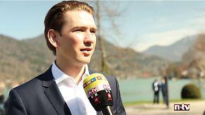 """Sebastian Kurz im n-tv Interview: """"Wir entscheiden, nicht die Schlepper"""""""