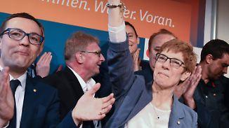 Saarland-Wahl dämpft Schulz-Hype: Kramp-Karrenbauer jubelt über Wahlergebnis