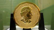 Mit Leiter ins Berliner Museum: Diebe klauen 100-Kilo-Goldmünze