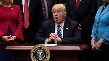 In Zugzwang, endlich mal was geregelt zu bekommen: Donald Trump