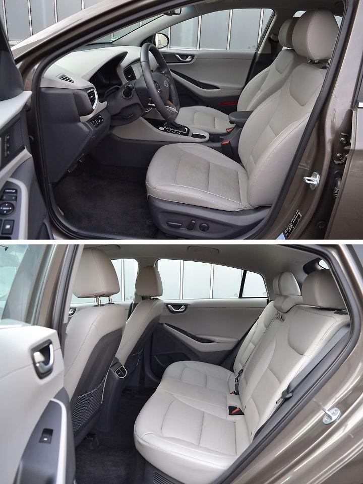 Die Verarbeitung und die Materialauswahl sind Im Hyundai Ioniq weitaus besser als im Toyota Prius.