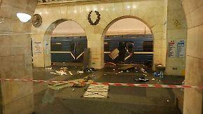 Zweiter Sprengsatz entschärft: Explosion erschüttert Metro in St. Petersburg