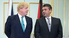 Ein Thema ist natürlich der Brexit: Sigmar Gabriel bei seinem Amtskollegen Boris Johnson.