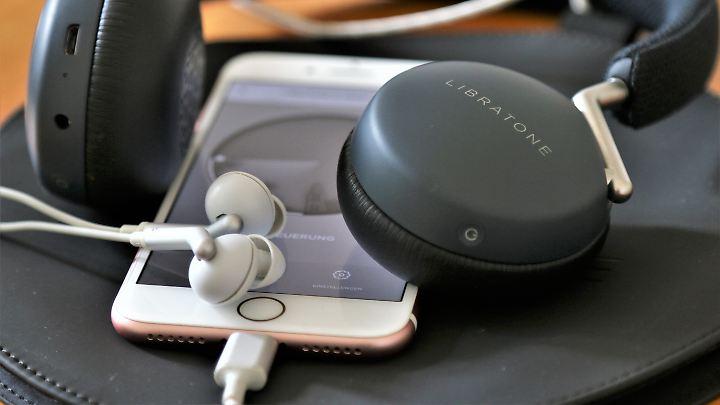 Q Adapt auf dem Smartphone: Per App lassen sich die In-Ears kontrollieren.
