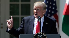 Trump verurteilte den mutmaßlichen Giftgaseinsatz.