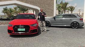 Limousine mit Sportler-Genen: Audi RS3 lässt die Wüste beben